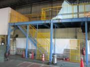 予備品置き場中2階鉄骨工事