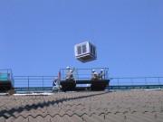 箕沖 工場屋根上空調機設置工事