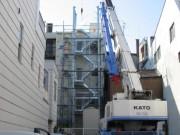 尾道 店舗外部階段設置工事